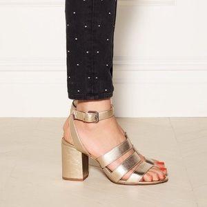 Madewell gold heels